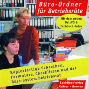 Büro-Ordner für Betriebsräte. CD-ROM mit Ordner und Broschüre